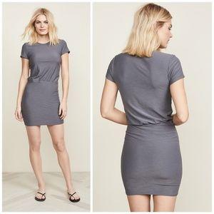 James Perse Short Sleeve Blouson T-Shirt Dress